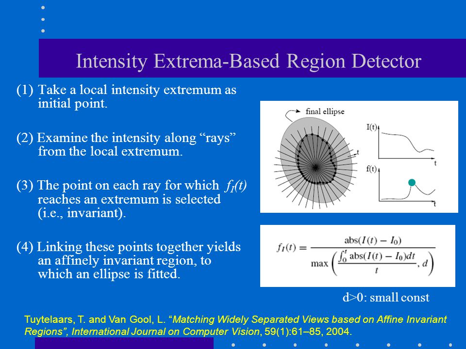 Intensity Extrema-Based Region Detector
