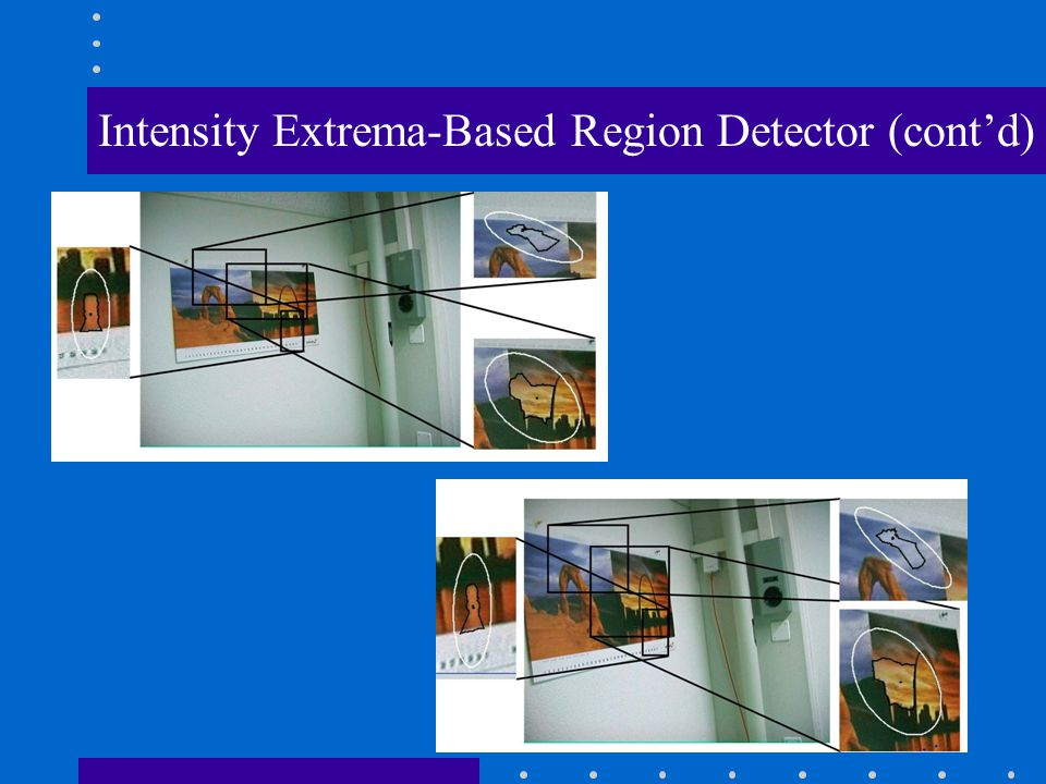 Intensity Extrema-Based Region Detector (cont'd)