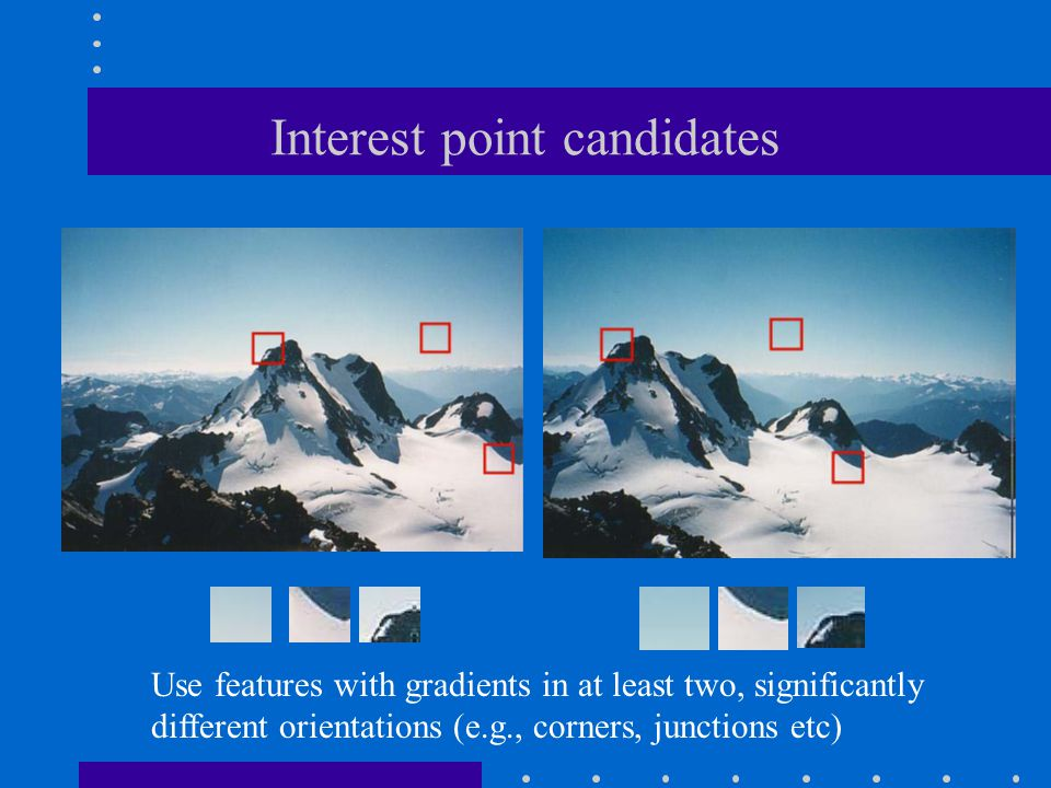 Interest point candidates