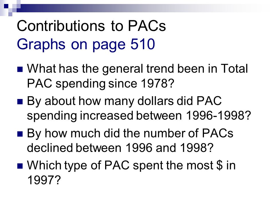 Contributions to PACs Graphs on page 510