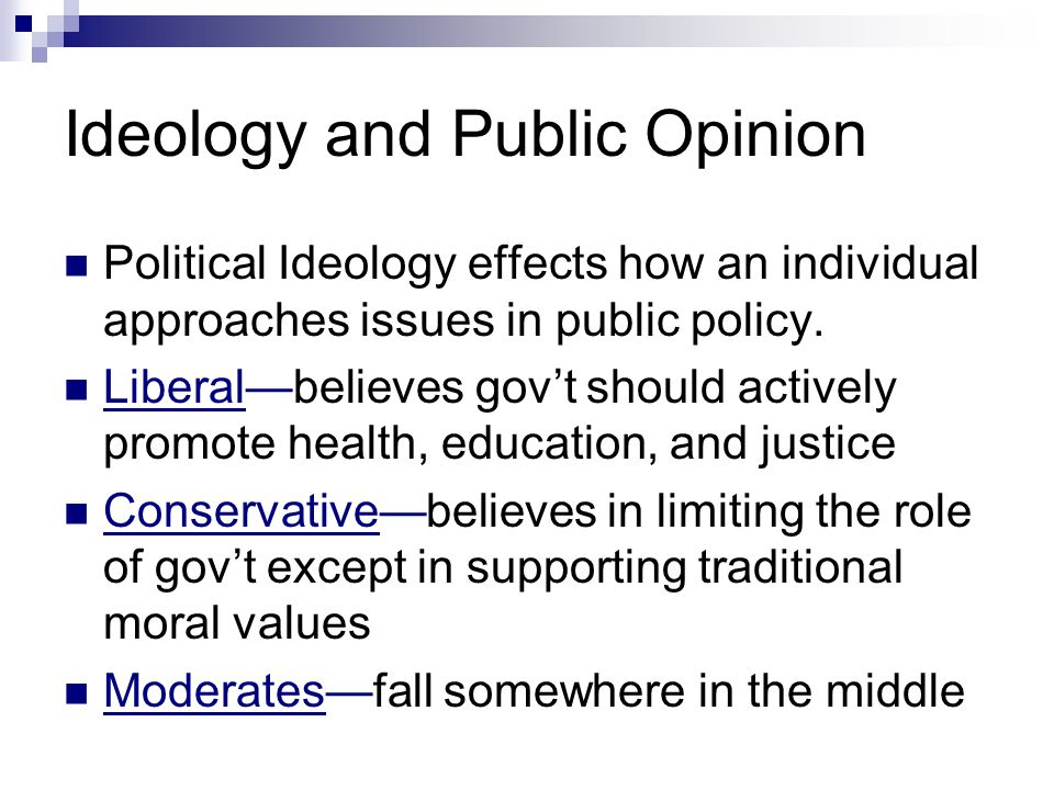 Ideology and Public Opinion