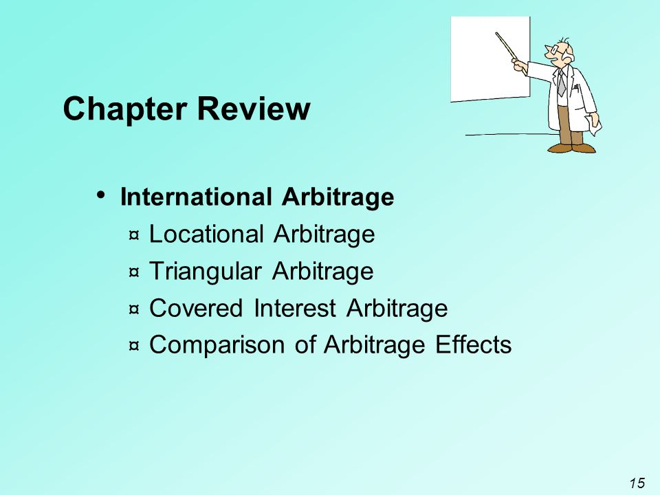 Chapter Review International Arbitrage Locational Arbitrage