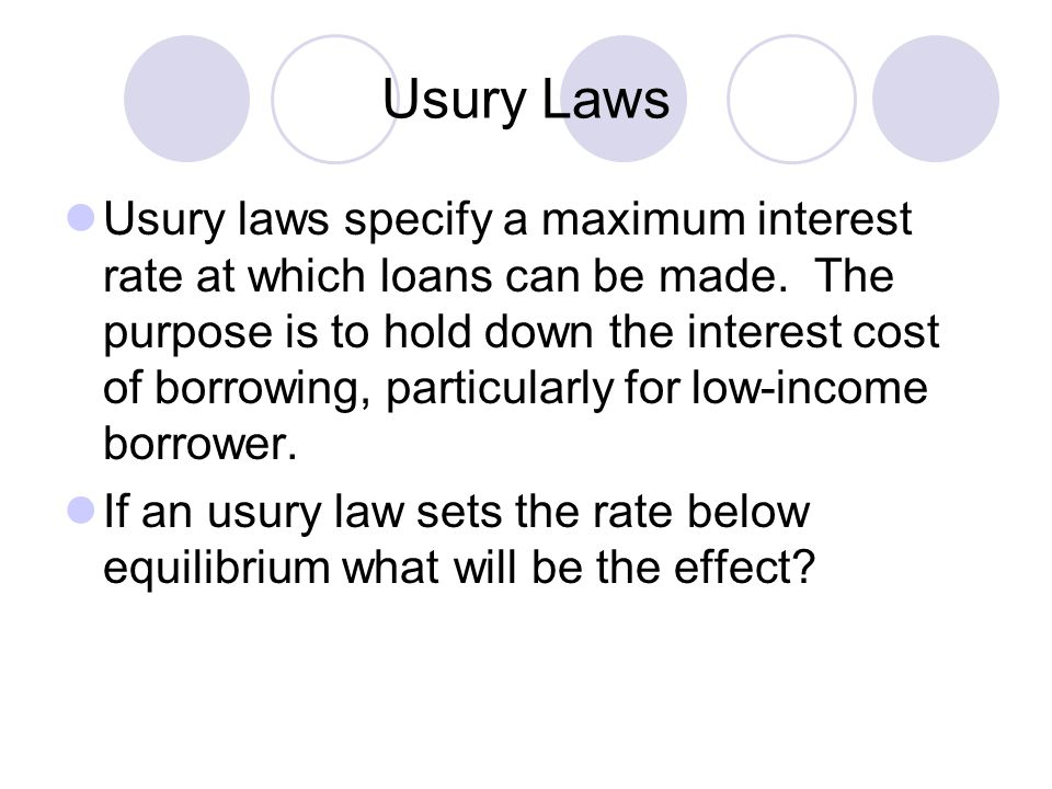 Usury Laws