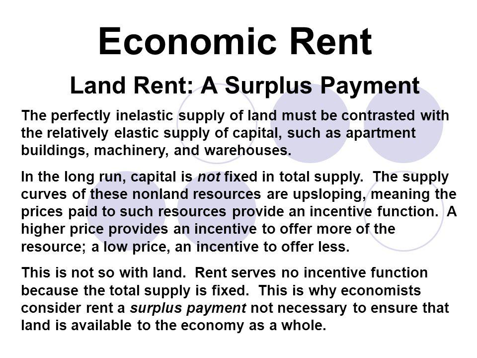 Land Rent: A Surplus Payment