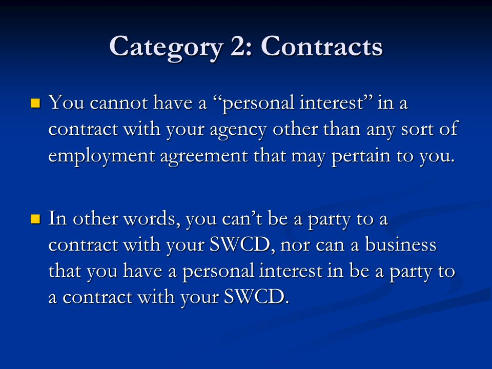 Category 2: Contracts