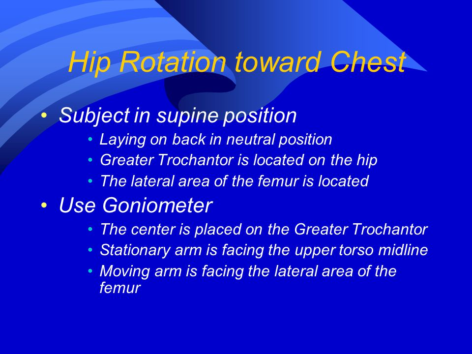 Hip Rotation toward Chest