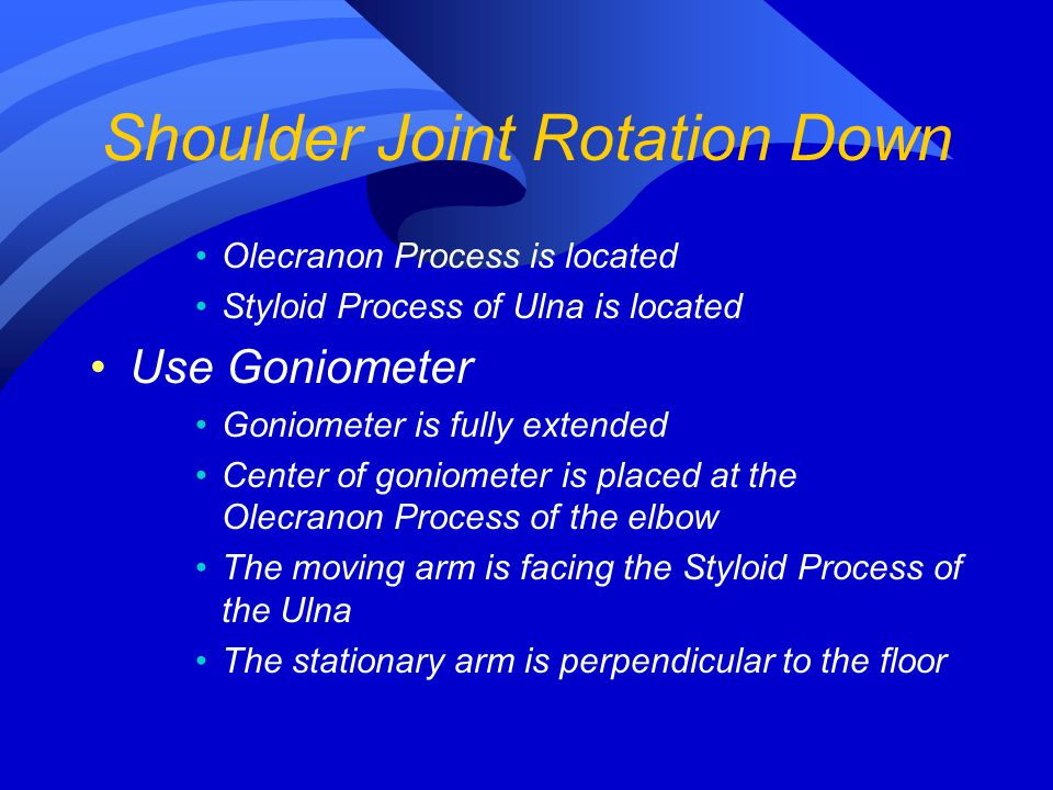 Shoulder Joint Rotation Down