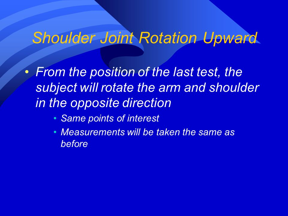 Shoulder Joint Rotation Upward