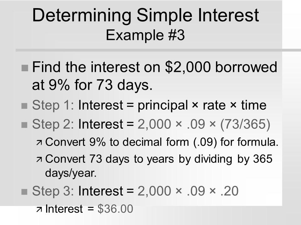 Determining Simple Interest Example #3