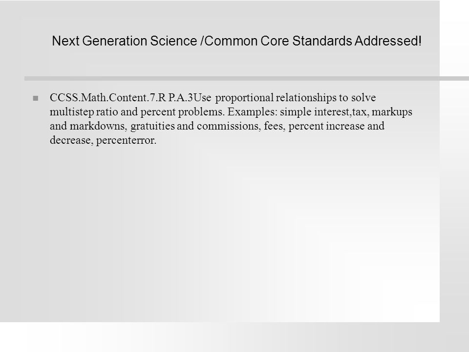 Next Generation Science /Common Core Standards Addressed!