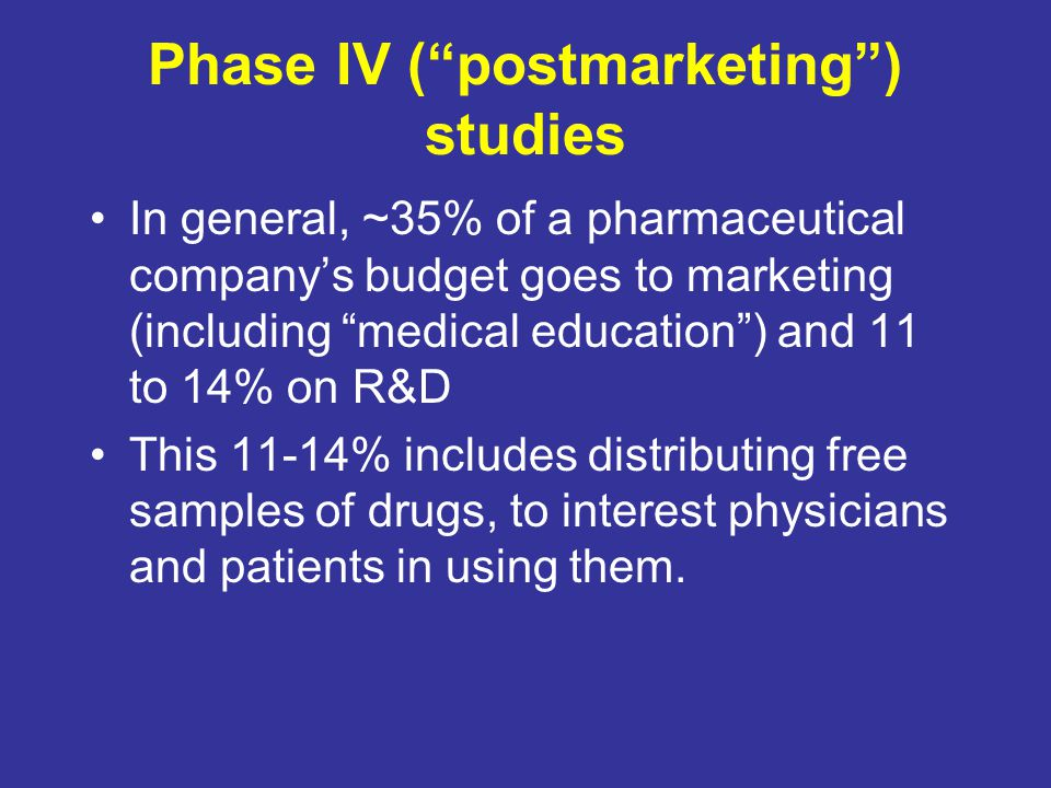 Phase IV ( postmarketing ) studies