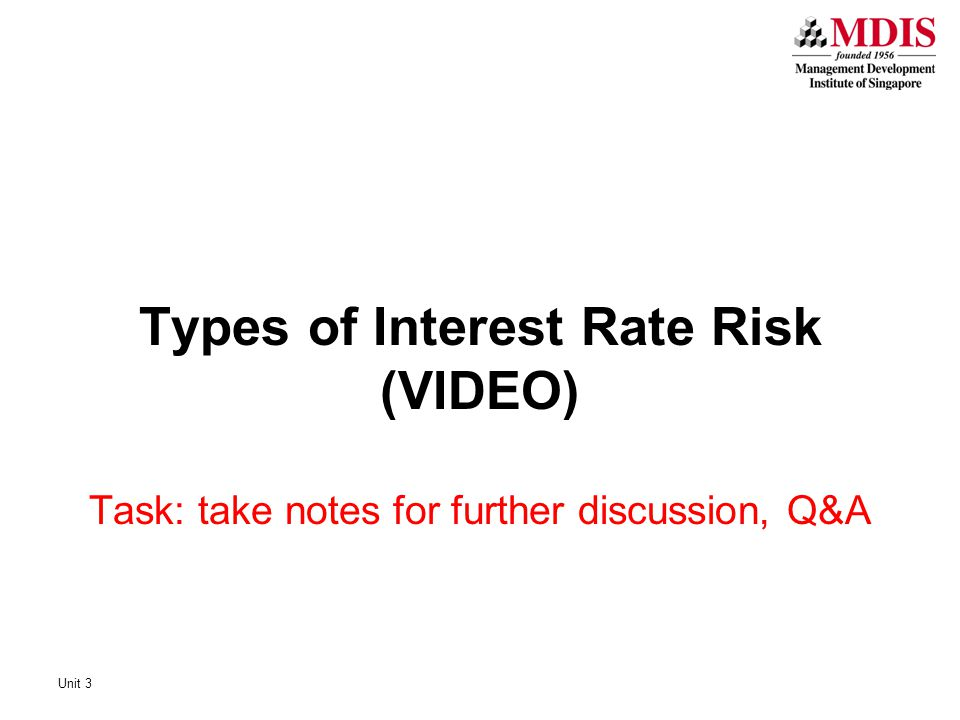 Types of Interest Rate Risk