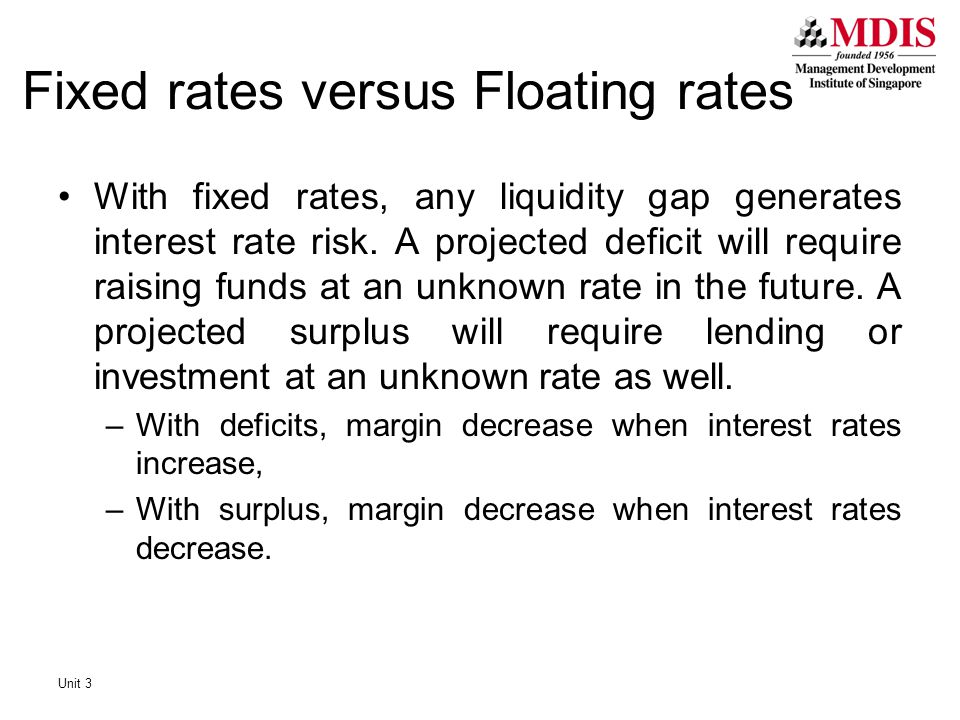 Fixed rates versus Floating rates