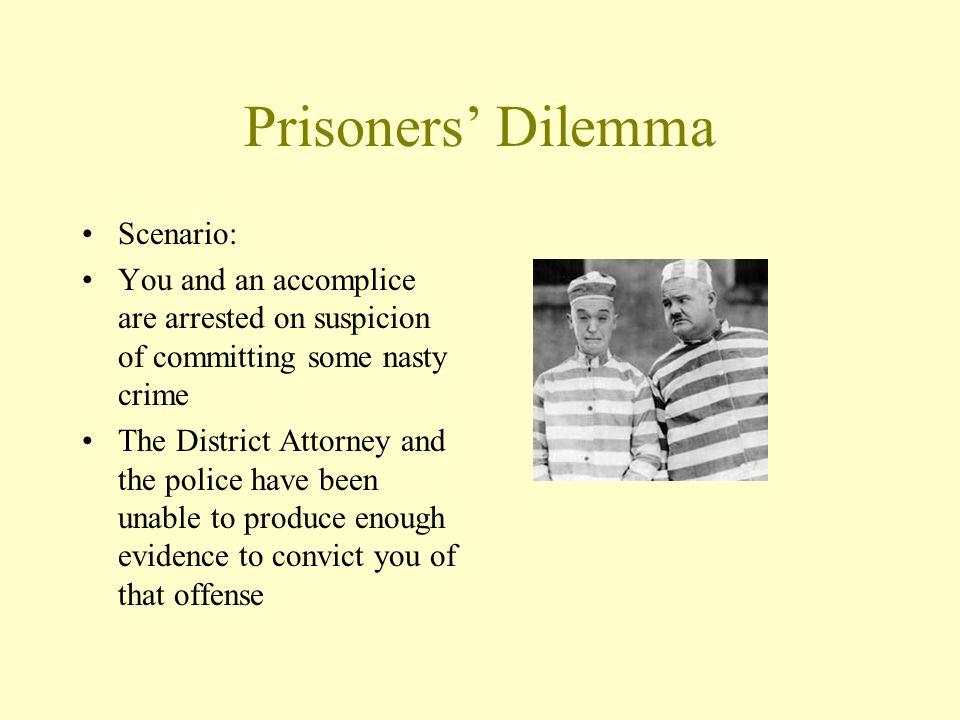 Prisoners' Dilemma Scenario: