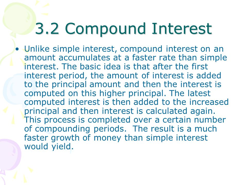 3.2 Compound Interest