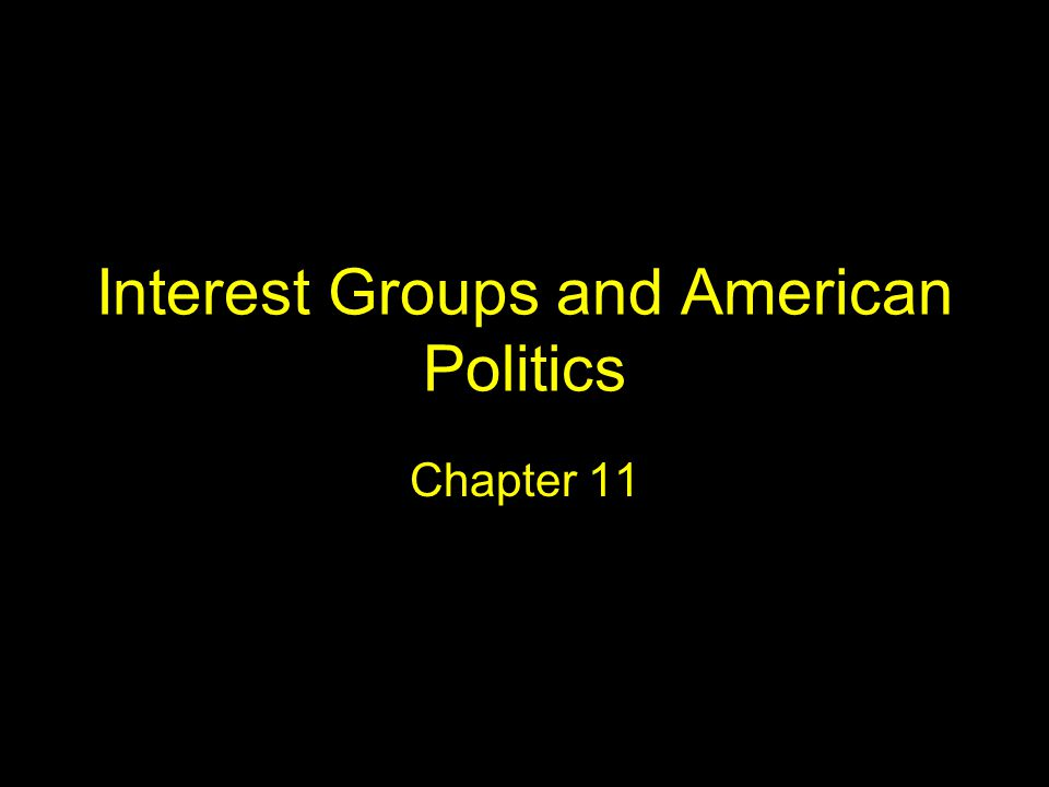Interest Groups and American Politics