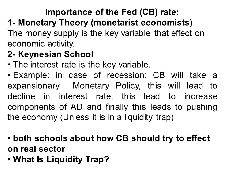 Importance of the Fed (CB) rate: