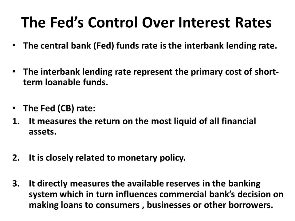 The Fed's Control Over Interest Rates