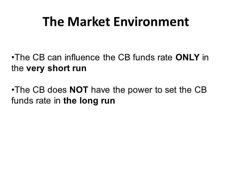 The Market Environment