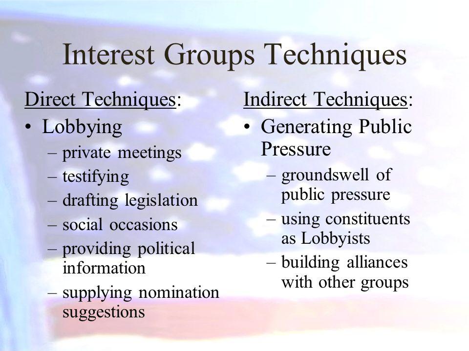 Interest Groups Techniques