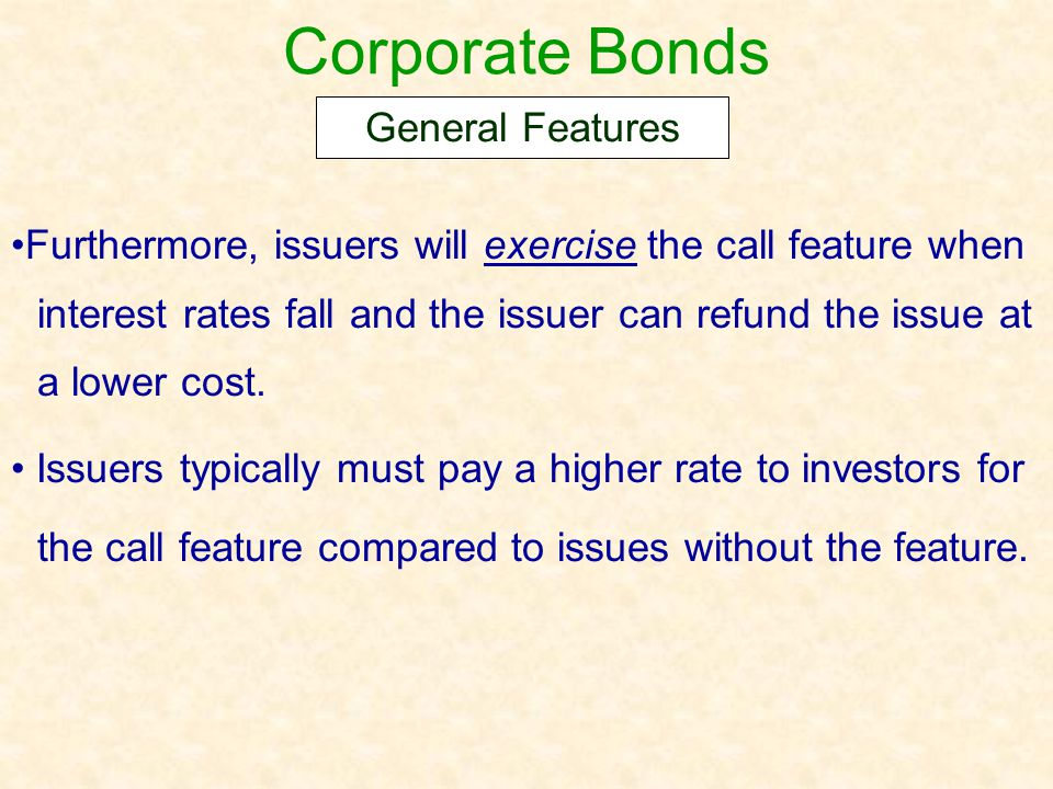 Corporate Bonds General Features