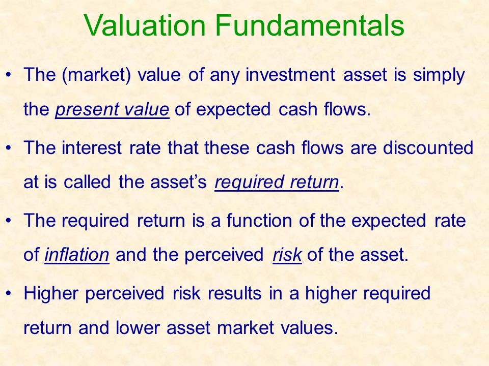 Valuation Fundamentals