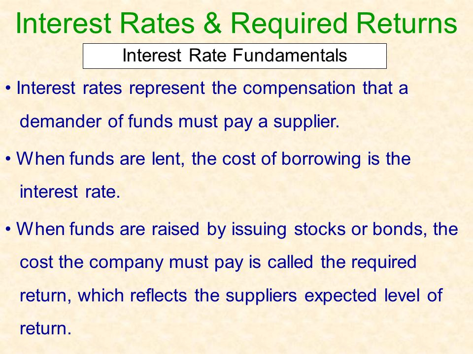 Interest Rates & Required Returns