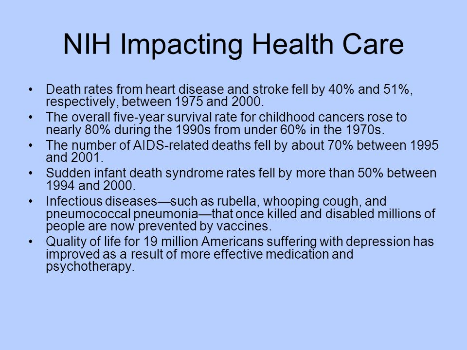 NIH Impacting Health Care