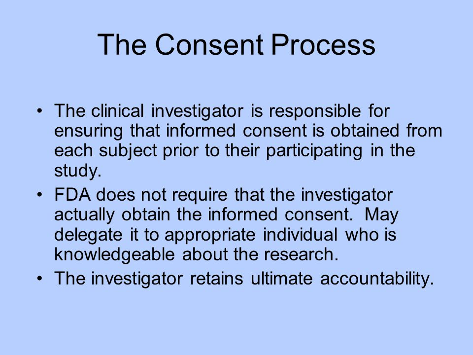 The Consent Process