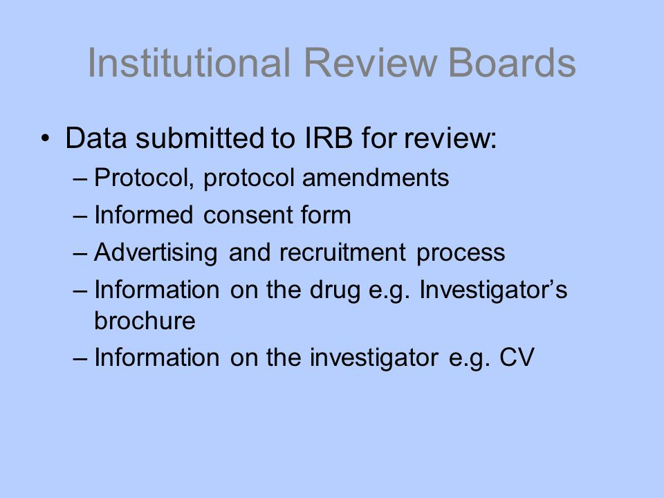 Institutional Review Boards