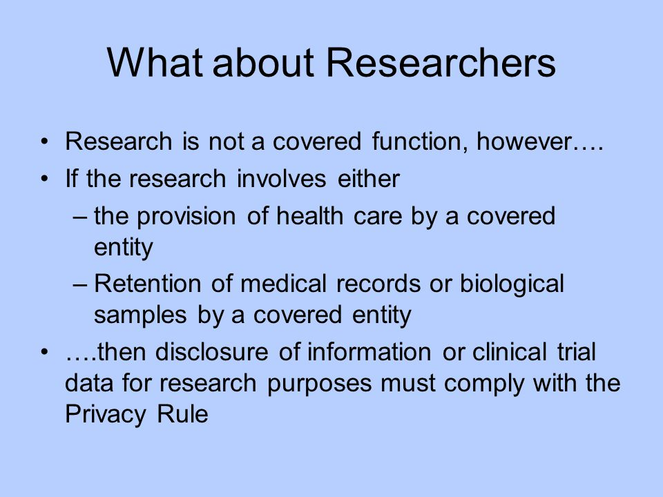 What about Researchers