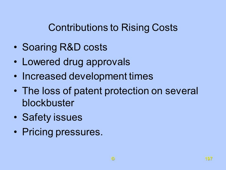 Contributions to Rising Costs