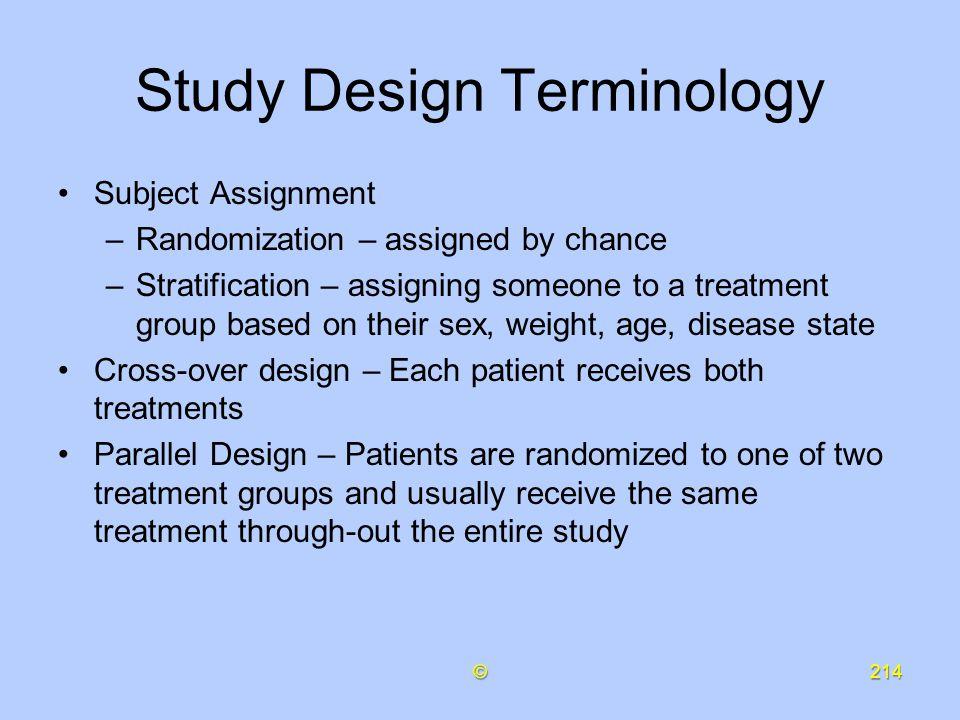 Study Design Terminology