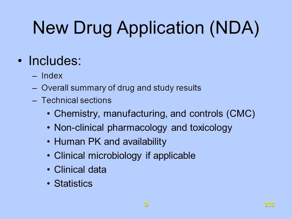 New Drug Application (NDA)