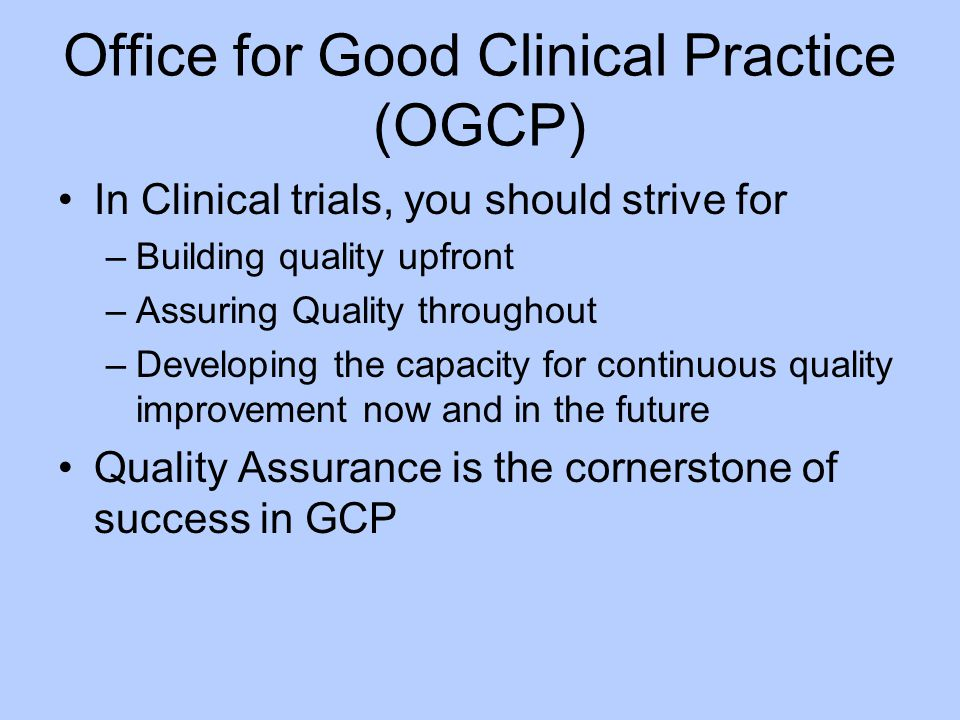 Office for Good Clinical Practice (OGCP)