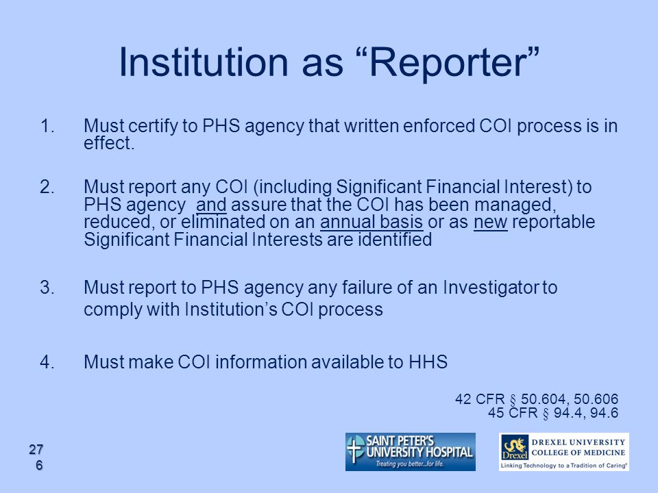 Institution as Reporter