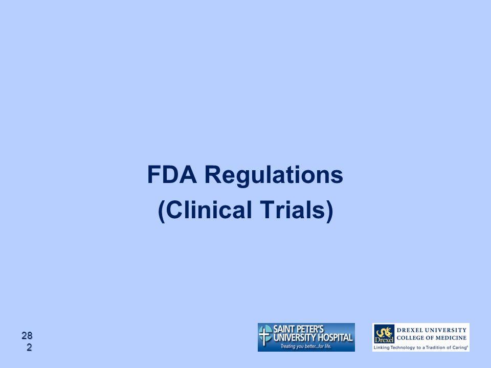 FDA Regulations (Clinical Trials)