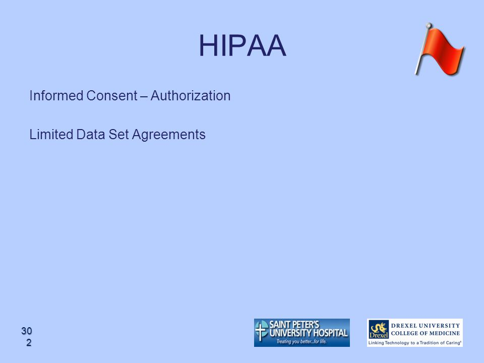 HIPAA Informed Consent – Authorization Limited Data Set Agreements