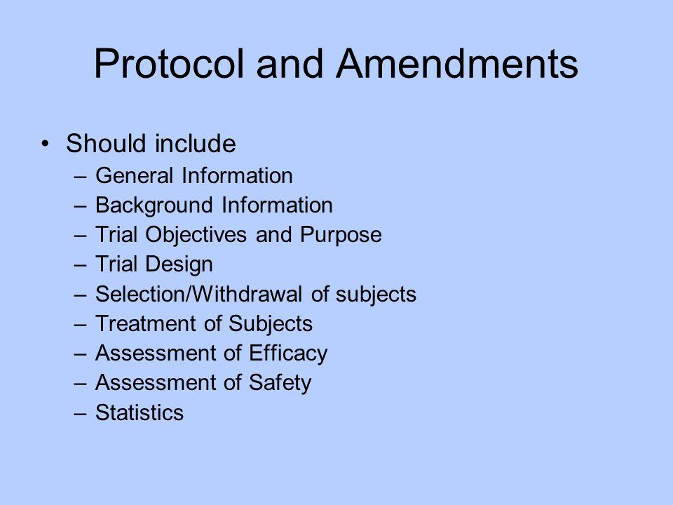 Protocol and Amendments