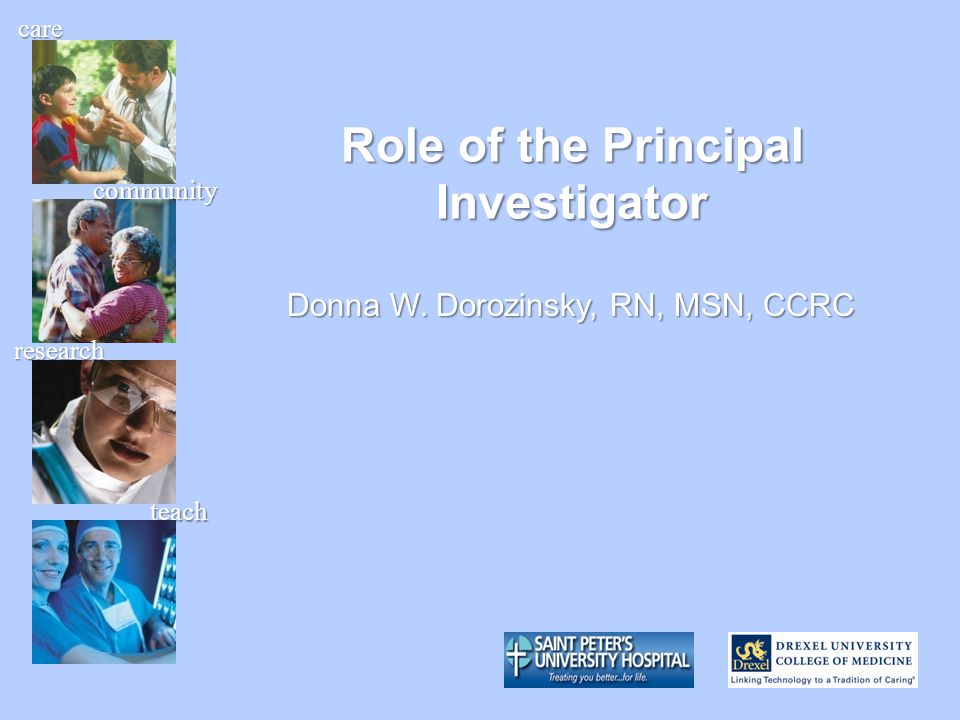 Role of the Principal Investigator