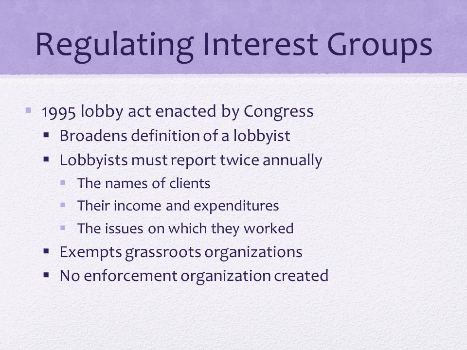 Regulating Interest Groups