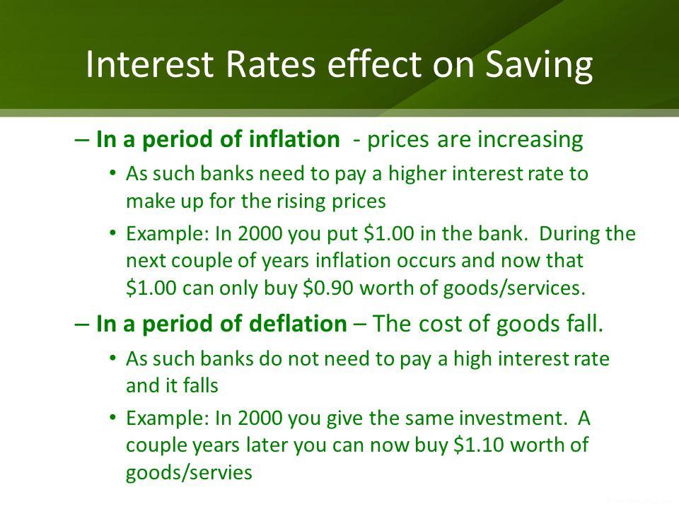 Interest Rates effect on Saving