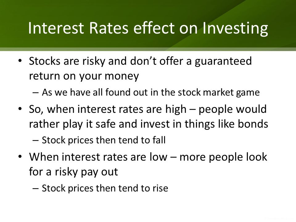 Interest Rates effect on Investing