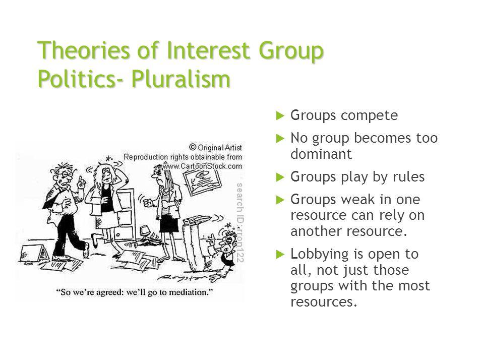 Theories of Interest Group Politics- Pluralism