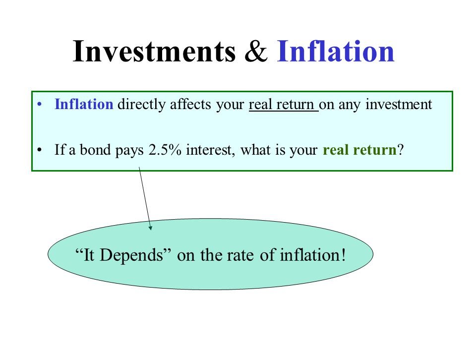 Investments & Inflation