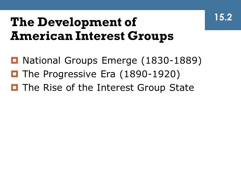 The Development of American Interest Groups