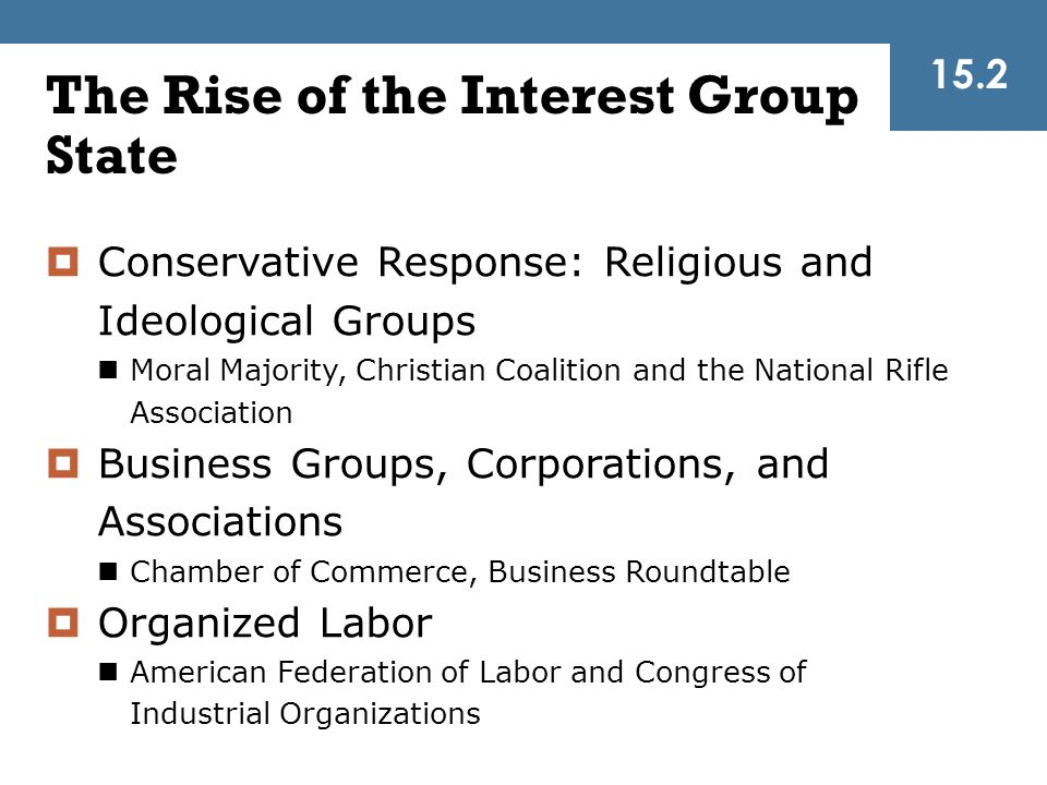 The Rise of the Interest Group State