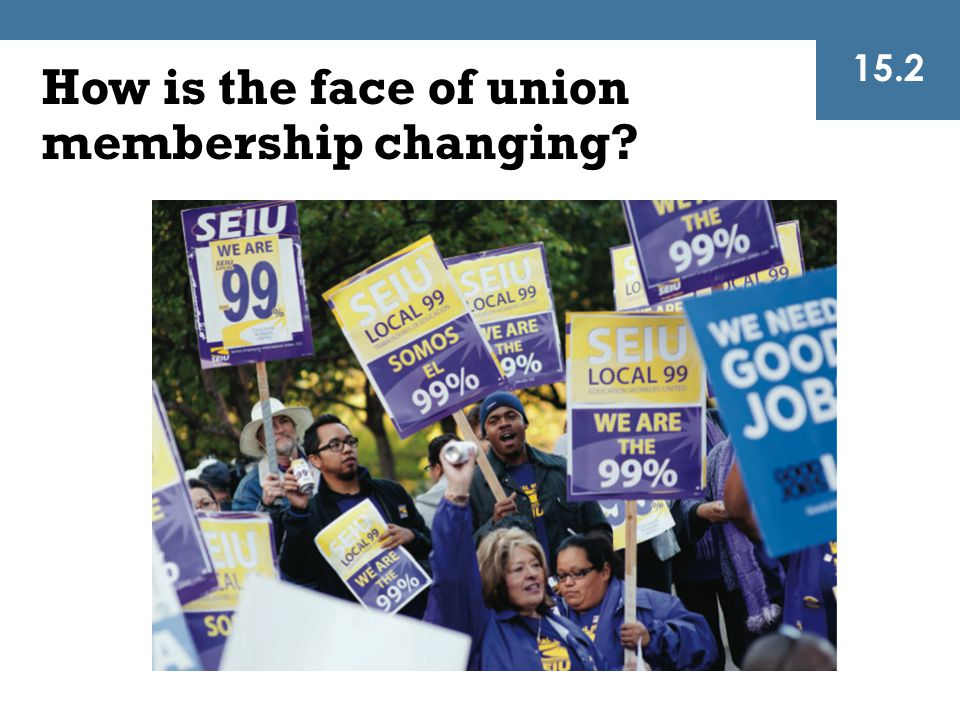 How is the face of union membership changing