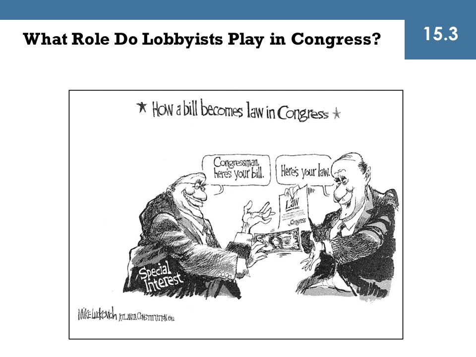 15.3 What Role Do Lobbyists Play in Congress