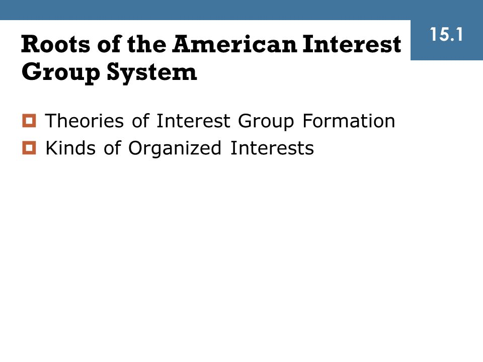 Roots of the American Interest Group System
